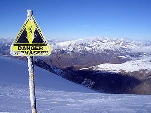 Danger! Crevasses, in Les Deux Alpes (Isère dé...