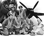 Crew of Lt. James Muri with Martin B-26 Marauder at Midway in June 1942.jpg