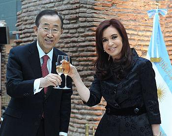 Cristina Fern%C3%A1ndez de Kirchner y Ban Ki-Moon