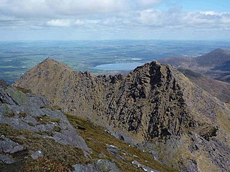 Cruach Mhór - Cruach Mhór (left), and The Big Gun (right), as seen from the summit of Cnoc na Péiste