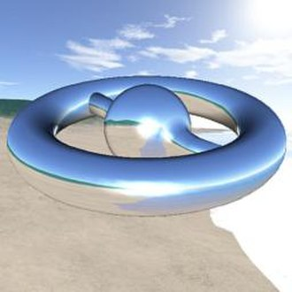 Reflection mapping - Example of a three-dimensional model using cube-mapped reflection