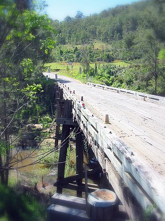 Wollombi, New South Wales - Image: Cunneens bridge