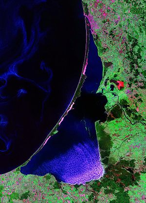 Curonian Lagoon - Landsat photo