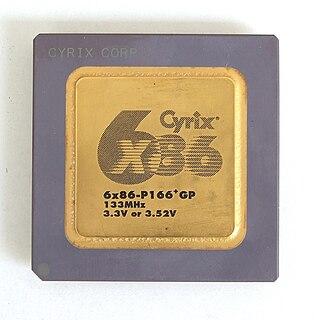 Cyrix 6x86 microprocessor