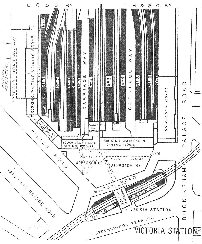 DISTRICT(1888) p142 - Victoria Station (plan)