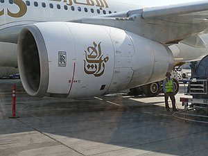 Rolls-Royce Trent 700 - Trent 700 on an Airbus A330 of Emirates Airlines