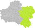 Dammarie-sur-Loing (Loiret) dans son Arrondissement.png
