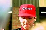 Damon Hill in the paddock before the 1993 British Grand Prix (32873541593).jpg