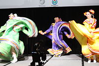 Dancing at the Wikimania 2015 Opening Ceremony IMG 7597.JPG