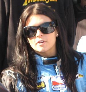 English: Andretti Green Racing's Danica Patric...