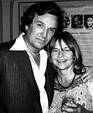 Danny Aiello - With actress Estelle Parsons in 1977