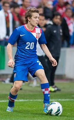 Darijo Srna (L), Alen Halilovic - Croatia vs. Portugal, 10th June 2013 (crop).jpg