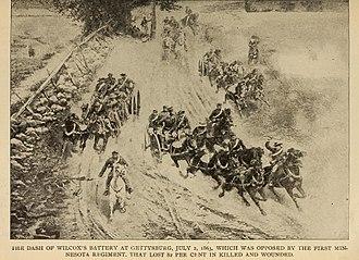 Cadmus M. Wilcox - The Dash of Wilcox's Battery at Gettysburg, July 2, 1863