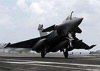 Dassault Rafale on USS Dwight D. Eisenhower.jpg