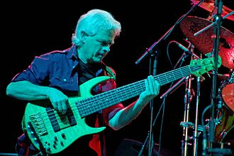 David Goodier - Goodier performing with Jethro Tull in Genova, 14 May 2010