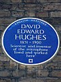 David Edward Hughes blue plaque in London.JPG