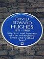 David Edward Hughes blue plaque in London.JPG