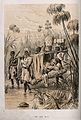 David Livingstone, suffering from fever, carried through the Wellcome V0018856.jpg