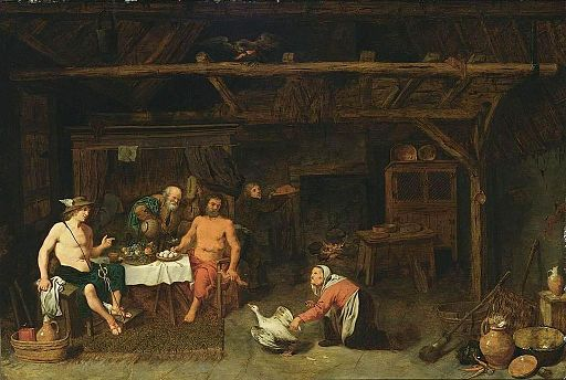 David Rijckaert (III) - Philemon and Baucis Giving Hospitality to Jupiter and Mercury - WGA20589