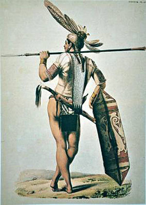 Dayak Ngaju Warrior by W.T. Gordon 1857.jpg