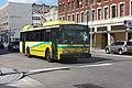 Dayton ETI trolleybus 9847 on Jefferson Street, about to turn into WSP (2016).jpg