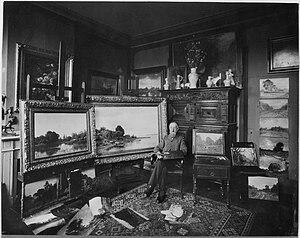 Julius van de Sande Bakhuyzen - Van de Sande Bakhuyzen in his atelier (1903).
