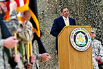 Defense.gov News Photo 111215-F-MJ260-003 - Secretary of Defense Leon E. Panetta talks to U.S. service members at the former Sather Air Base in Baghdad during a ceremony that marked the end.jpg