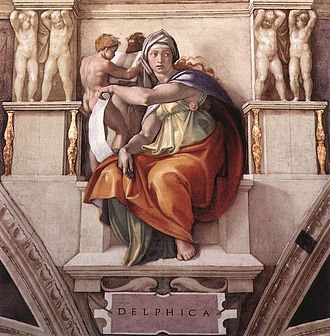 Sibyl - Michelangelo's Delphic Sibyl, Sistine Chapel