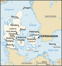 List of airports in Denmark - Wikipedia Denmark In The Map on