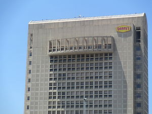Denny's - Denny's corporate headquarters in downtown Spartanburg, South Carolina