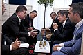 Dep Sec. Blinken has bilateral talks with Slovakian Foreign Minister Miroslav Lajčák during a break of the OSCE conference in Potsdam. (29291216092).jpg