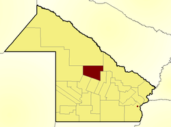 Location of Maipú Department in Chaco Province