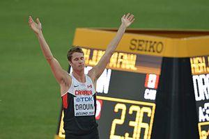 2015 World Championships in Athletics – Men's high jump - Winner Derek Drouin