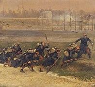 Des Lignards vont au feu, fragment du panorama de La Bataille de Champigny.jpg