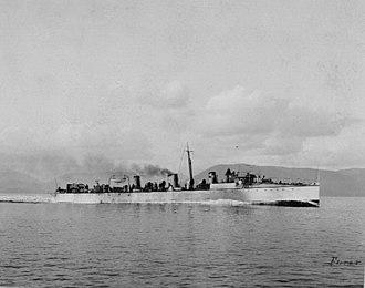 Spanish Republican Navy - Destroyer Furor, similar to Proserpina