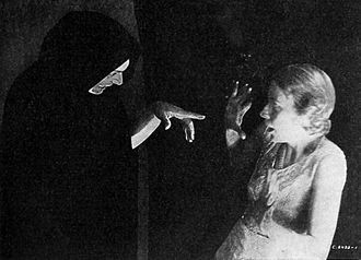 Promotional photograph for The Detective Story Hour, with James La Curto as The Shadow (1930) Detective-Story-Hour-1930.jpg