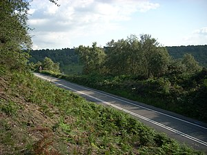 Hindhead Tunnel - Devil's Punch Bowl seen from the old A3 (before its closure)