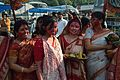 Devotees - Durga Idol Immersion Ceremony - Baja Kadamtala Ghat - Kolkata 2012-10-24 1384.JPG
