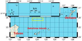 Carte des îles Senkaku.