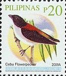 Dicaeum quadricolor 2009 stamp of the Philippines.jpg