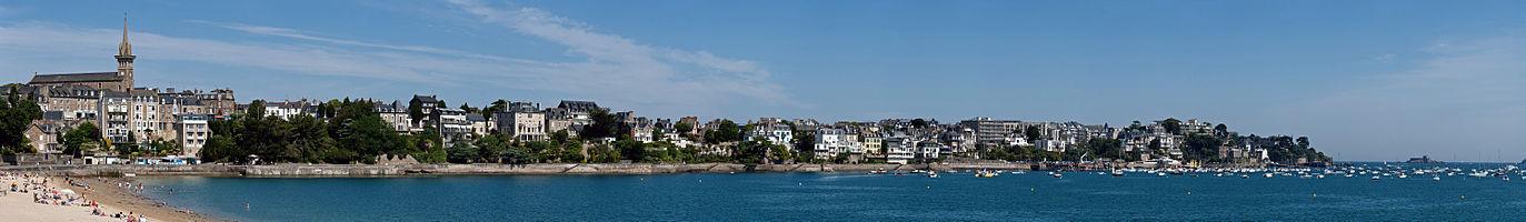 Panoramic view of Dinard