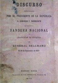 Discurso pronunciado por el Presidente de la Republica - Domingo F. Sarmiento.pdf
