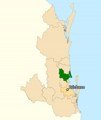 Division of Longman - Division of Longman in Queensland, as of the 2016 federal election.