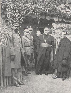 Michael Buchberger - Buchberger (right) visiting Jakob Weis on the Western Front during the First World War