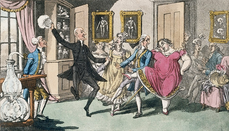 Doctor and Mrs Syntax, with a party of friends, experimentin Wellcome L0022227