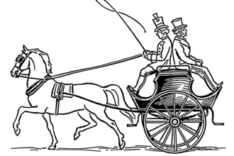 Dogcart - Later type of dogcart designed exclusively for a driver and passenger