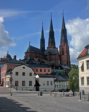 Uppsala Cathedral - Uppsala Cathedral from Gamla Torget