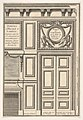 Door and Chimney of the Billiards room at Versailles, plate I from the Series 'Portes a Placard et Lambris', published as part of 'L'Architecture à la Mode' MET DP834185.jpg