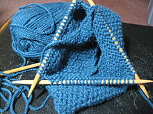 Double pointed kitting needles in use.jpg
