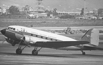 Ellinikon International Airport - Douglas DC-3 of the Hellenic CAA at Ellinikon Airport in April 1973